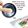 2 Stuks Eco Vriendelijke Natuurlijke Loofah Keuken Spons Multilayer Organische Plantaardige Scrubber Anti-Olie Schotel Kom Pot Schoonmaken Scrub pad 2