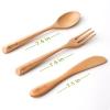 Eco Vriendelijke Houten Bestek Set Premium Beuken Servies Keuken Servies Hout Diner Mes Lepel en Vork Set 3