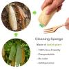 Eco Vriendelijke Houten Bestek Herbruikbare Reizen Gebruiksvoorwerp Met Draagbare Camping Gebruiksvoorwerpen Zak Nul Afval Lepel Vork Mes Bestek Set 4