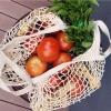 Ecologische Katoen Mesh Boodschappentas Herbruikbare Produceren Fruit Groente Opslag Netto Zakken Kruidenier Tote 3