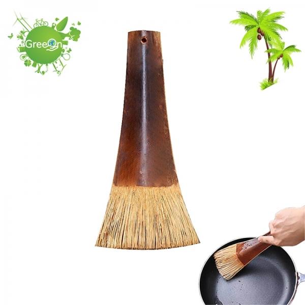Greeon Natuurlijke Milieuvriendelijke Kokospalm Borstel Pure Handgemaakte Lange Handvat Anti-Olie Pot Pan Reinigingsborstel Keuken Levert Nieuwe