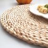 Greeon Natuurlijke Maïs Bont Geweven Pad Eettafel Mat Warmte-Isolatie Pot Pad Anti-Brandwonden Onderzetters Non-slip Tafel Placemats 2