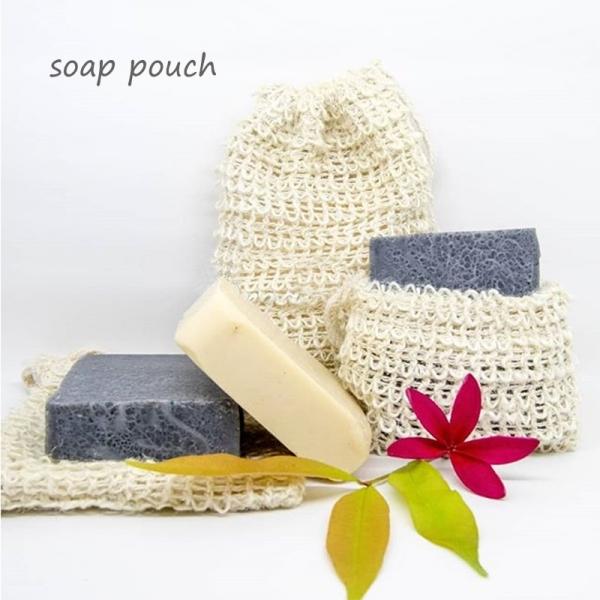 Greeon Natuurlijke Katoen Exfoliërende Zeep Tassen Drastring Mesh Opbergtas Schuimende Massage Bad Pouch Body Facial Cleaning Tool 3Pcs