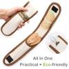 Eco Vriendelijke Houten Bestek Herbruikbare Reizen Gebruiksvoorwerp Met Draagbare Camping Gebruiksvoorwerpen Zak Nul Afval Lepel Vork Mes Bestek Set 3