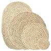 Greeon Natuurlijke Maïs Bont Geweven Pad Eettafel Mat Warmte-Isolatie Pot Pad Anti-Brandwonden Onderzetters Non-slip Tafel Placemats 1