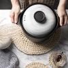 Greeon Natuurlijke Maïs Bont Geweven Pad Eettafel Mat Warmte-Isolatie Pot Pad Anti-Brandwonden Onderzetters Non-slip Tafel Placemats 5