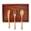 Eco Vriendelijke Houten Bestek Set Premium Beuken Servies Keuken Servies Hout Diner Mes Lepel en Vork Set 4