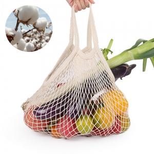 Ecologische Katoen Mesh Boodschappentas Herbruikbare Produceren Fruit Groente Opslag Netto Zakken Kruidenier Tote