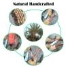 Greeon Natuurlijke Milieuvriendelijke Kokospalm Borstel Pure Handgemaakte Lange Handvat Anti-Olie Pot Pan Reinigingsborstel Keuken Levert Nieuwe 4