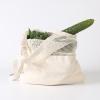 Greeon Eco-vriendelijke Biologisch Katoen Mesh Doek Tas Groente Fruit Shopping Tote Herbruikbare Nul Afval Produceren Opbergtas Wasbare 1