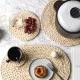 Greeon Natuurlijke Maïs Bont Geweven Pad Eettafel Mat Warmte-Isolatie Pot Pad Anti-Brandwonden Onderzetters Non-slip Tafel Placemats